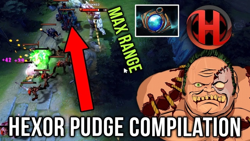 Hexor Back at Pudge Again Road to TOP 100 EPIC Pudge Compilation Dota 2