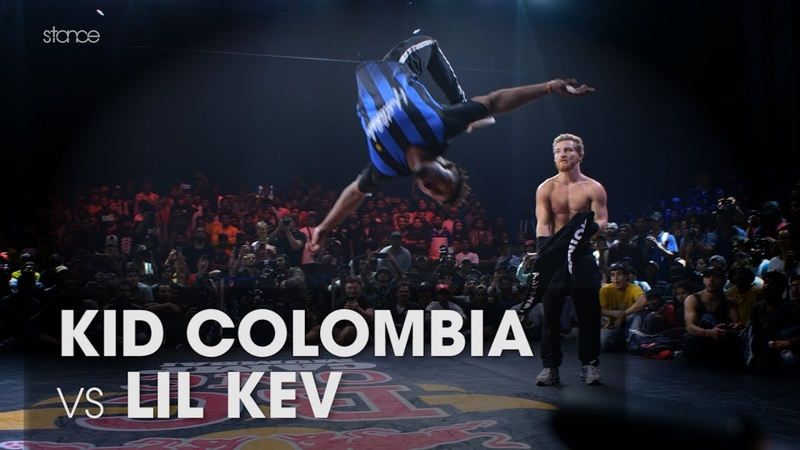 Kid Colombia vs Lil Kev (stance angle) RED BULL BC ONE WORLD FINALS MUMBAI Powermove Final