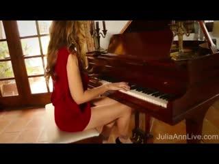 Busty Milf Julia Ann Cums on Piano