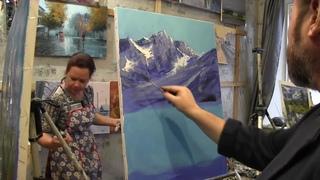 Игорь Сахаров, научиться писать горы маслом 1