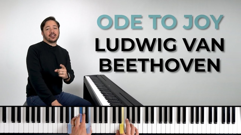 How to play ODE TO JOY by Ludwig van Beethoven on the piano -- Playground Sessions