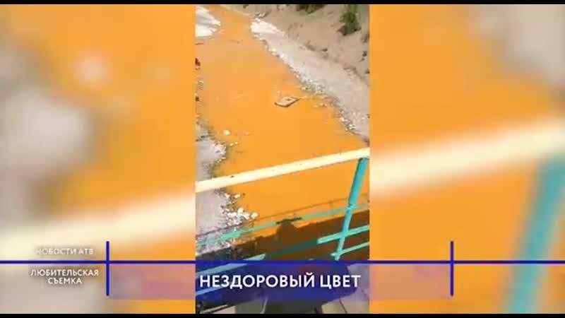Жители Закаменского района бьют тревогу из за аномального цвета реки
