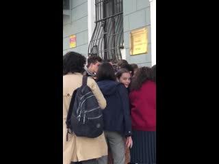 Настя Субботина сдавала экзамены в  РАТИ ГИТИС