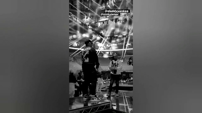 Daddy Yankee en los ensayos de Premio Lo Nuestro en Miami