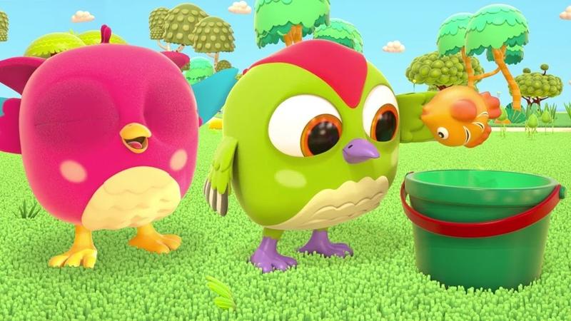 HopHop die Eule Cartoon TockTock geht angeln Spaß mit TockTock und HopHop