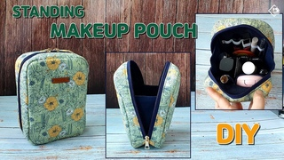 DIY STANDING MAKEUP BAGINBAG POUCH / Makeup bag/ sewing tutorial [Tendersmile Handmade]