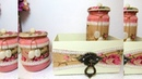 Porta Cotonete e Algodão com Potes de Vidro Reciclados Kit Higiêne
