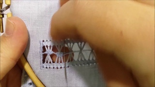 Sfilatura a ventaglietti - Tutorial ricamo a mano