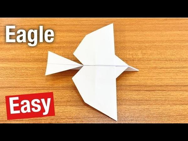 How to make Flying Eagle paper airplane Origami Pesawat Kertas Burung Elang