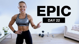 Day 22 of EPIC   Dumbbell Shoulders & Core Workout [Supersets]