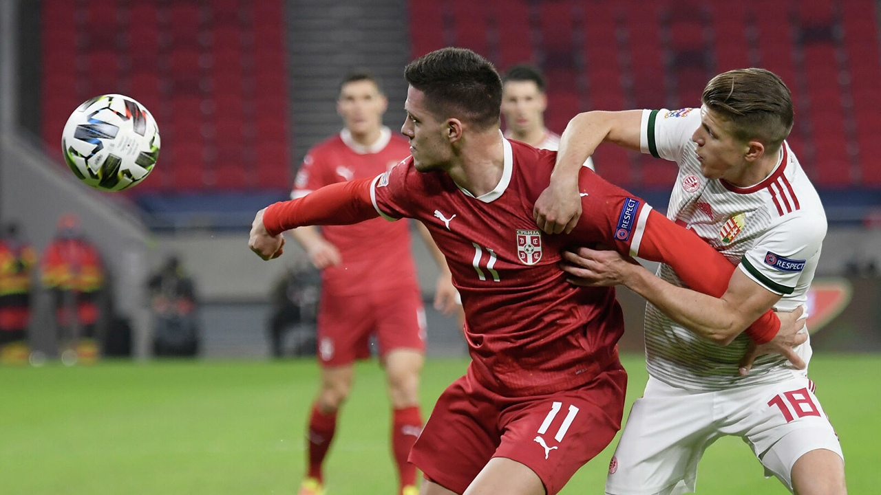 Сербия - Венгрия, 1:1. Лига Наций