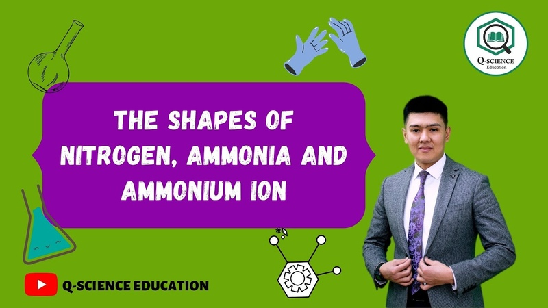 The shapes of nitrogen ammonia and ammonium ion explained via quantum chemistry calculation