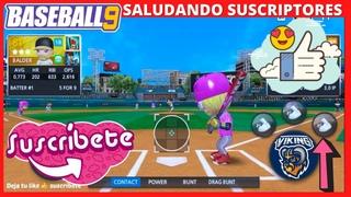 🔴BASEBALL 9 JONRON BASES LLENAS GRAND SLAM BATAZOS LIGA VIDEOJUEGOS GAMEPLAY ESPAÑOL TRUCOS BEISBOL