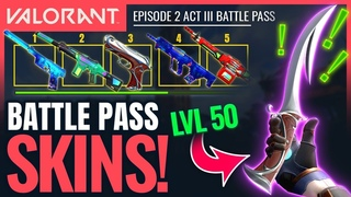 VALORANT | All Battle Pass Rewards & New Skins (Ep 2 Act 2)