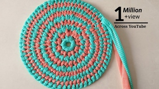 Doormat making at home   old clothes Reuse ideas   Doormat design   paydan - Craft with Priya