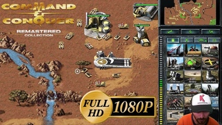 Command & Conquer Remastered First Gameplay 1 NOD vs 3 HARD GDI AI in Full HD 1080p Mexican English