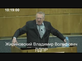 Прямым текстом Жириновскии против образования и свободы. Выступление в Госдуме.