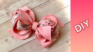 """""""Laço Layce"""" (Tulipa) c/ fita  fácil de fazer   DIY ribbon bows   Como fazer laços  video 57"""