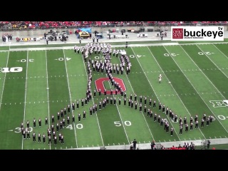 "Ohio State Marching Band ""Michael Jackson Tribute"" - Halftime vs. Iowa- 10-19-13"
