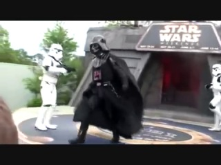 Dance off with star war stars darth vader dancing back street boys and mc hammer