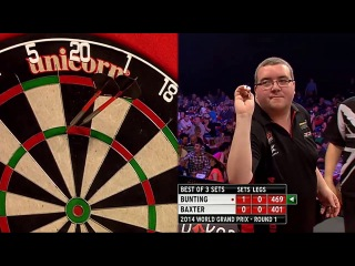 Ronnie Baxter vs Stephen Bunting (World Grand Prix 2014 / First Round)