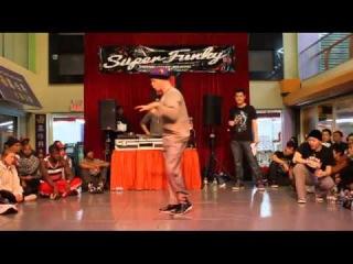 SUPER FUNKY 2012   POPPIN FINAL   JROCK VS VIHO(WIN)