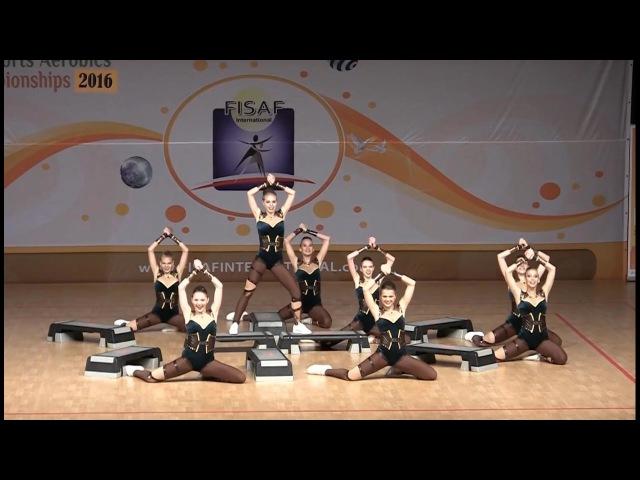FISAF International World Fitness HHU Championships 2016. Junior Step Grande: Lada-Freestyle (RUS)