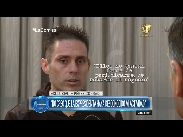 Pérez Corradi habló de Aníbal Fernández y denunció a la jueza Arroyo Salgado