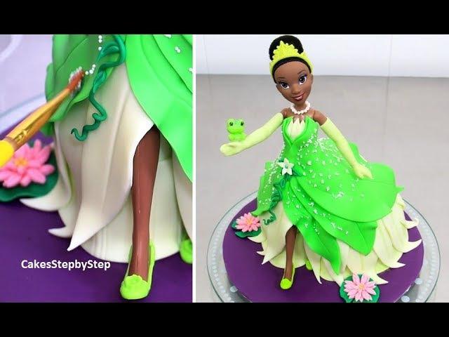 Lakomkavk How To Make a Disney TIANA Princess Doll Cake by Cakes StepbyStep