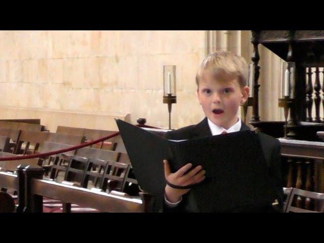 King's College Chapel Bach Handel Mozart boy soprano Aksel Rykkvin 12y