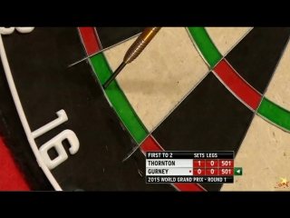 Robert Thornton vs Daryl Gurney (World Grand Prix 2015 / Round 1)