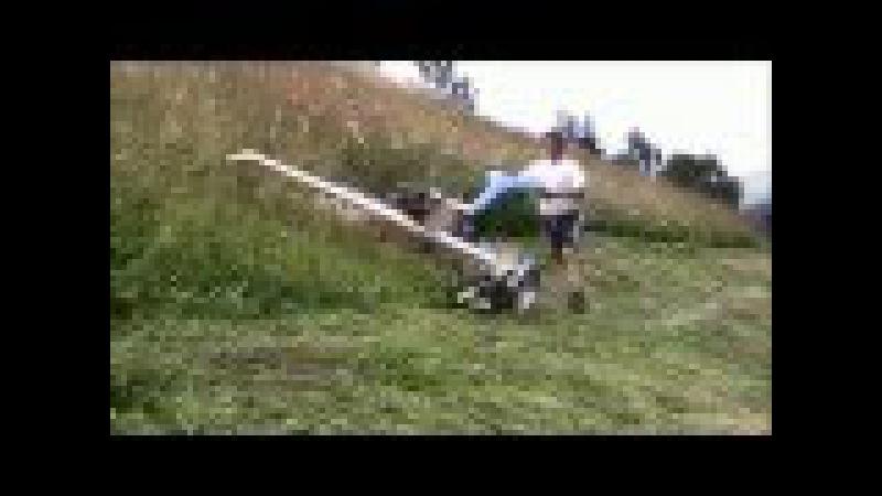 Работа сенокосилки Brielmaier на склоне