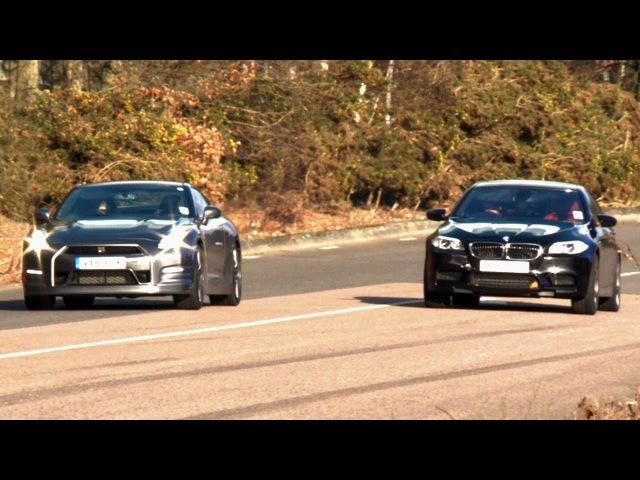 BMW M5 vs Nissan GT R Drag Замеры NaZa5aske