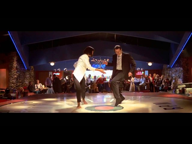 Миа Уоллес и Винсент Вега Танец из фильма 'Криминальное Чтиво'