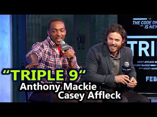 TRIPLE 9 Cast Interview | Casey Affleck and Anthony Mackie | February 24th, 2016