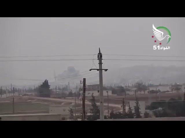 FıratKalkanı operasyonunda Elbab Akil tepesi ile Hastane noktalarının hava kuvvetlerimiz tarafından vurulma görüntü 28 12 2016