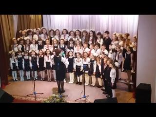 Виступ учнів молодших класів Тисменицької спеціалізованої школи на обласному конкурсі р.