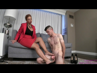 Goddess brianna - teach son to kiss feet and obey sibling key holder