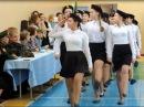 Смотр строя и песни сборная школы девочек, МБОУ СОШ №11 2016