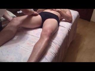 Массаж. Разминания на бедре ( в положении пациента лежа на спине ).