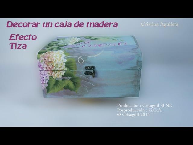 Pintar caja madera con pintura efecto tiza y multicarga Painted wooden box one stroke