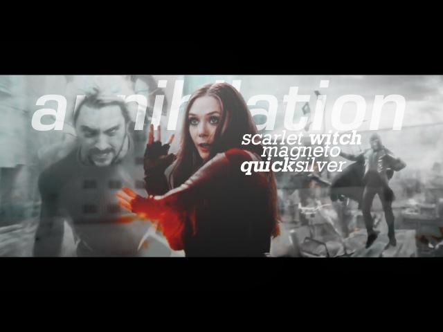 Scarlet witch x magneto x quicksilver | annihilation