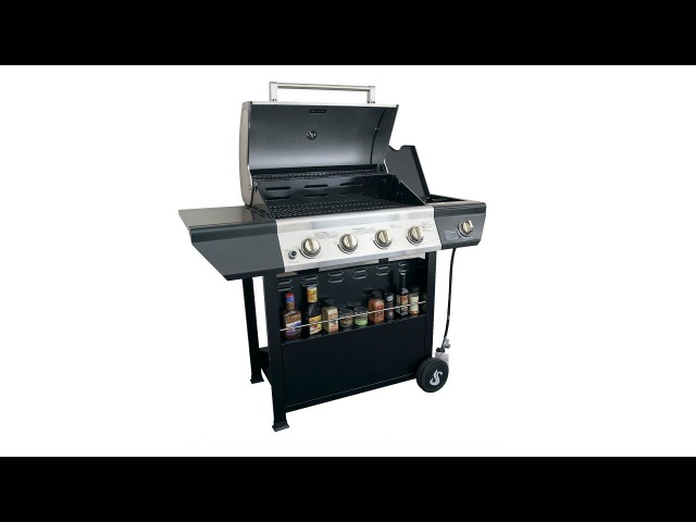 SUPER SPACE 60000 BTU 4 Burner plus Side Burner Patio Garden Stainless Steel Barbecue Grill BBQ Gas
