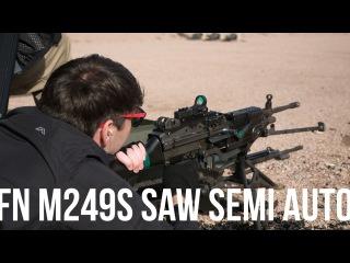 SHOT Show 2016: Semi-Auto FN SAW M249S at the Range (With Bonus Full Auto M249 Footage)