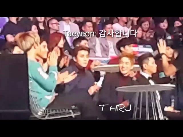 151202 mama exo Suho Chanyeol reaction to Baekyun Cute Exo Baekhyun Snsd tts Taeyeon MAMA реакция