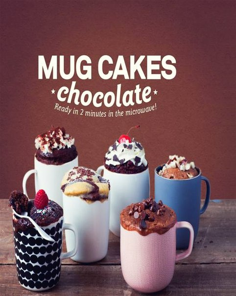 Mug Cakes Chocolate Ready in 2 Minutes in the Micr
