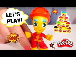 PLAY DOH toys FIRE STATION! Play Doh videos for kids and Play Doh plastilina kid's videos