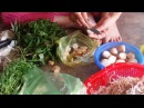 Mother make porridge with chicken and vegetable - boy play game with Ipaq