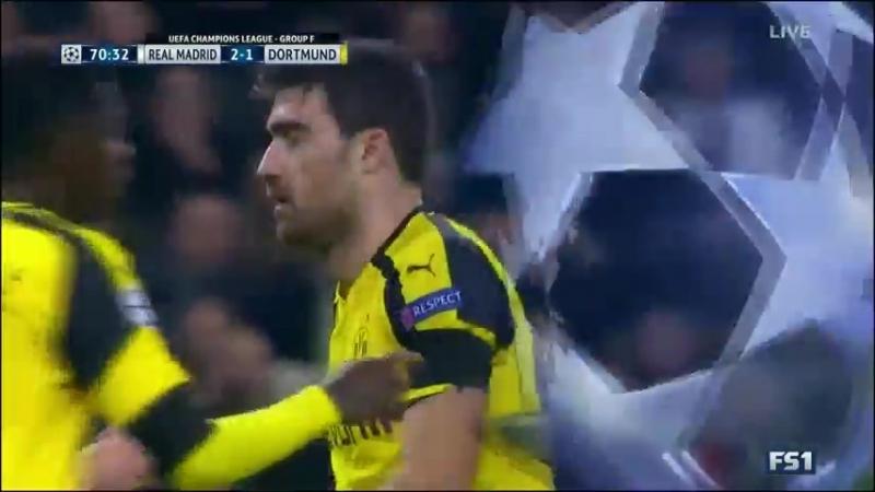 Реал Мадрид - Боруссия Дортмунд. Лига Чемпионов 2016/17 (2 тайм)   vk.com/dfb_ru