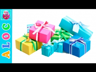 Gifts for subscribers of channel a lot of candy. play doh logos and magic hi and birthday